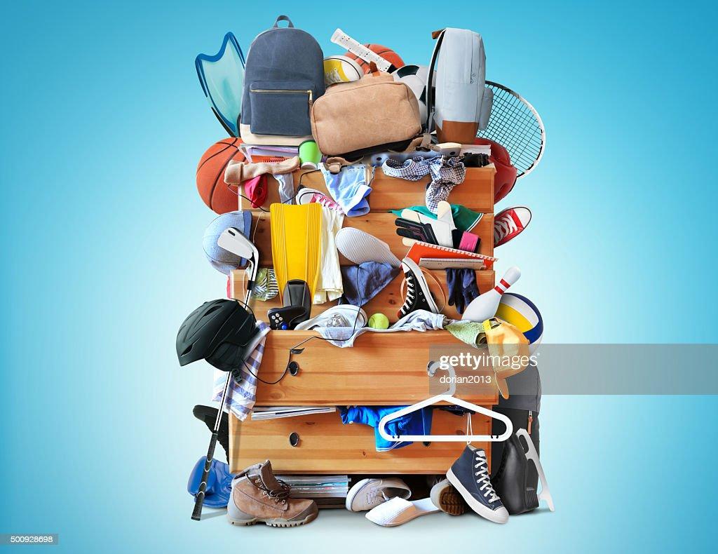 Mess, dresser : Stock Photo