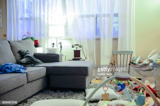 mess in the living room - messy stock pictures, royalty-free photos & images