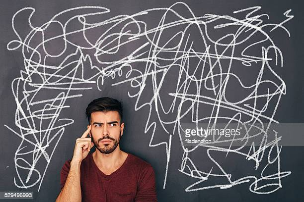 mess on blackboard - single word stock pictures, royalty-free photos & images