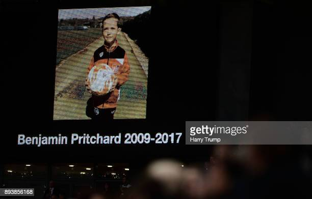 A message his displayed on the big screen honouring the life of a young Bristol City fan who sadly passed away during the Sky Bet Championship match...