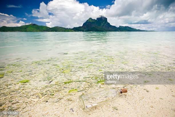 Message in a Bottle Atoll Lagoon Beach