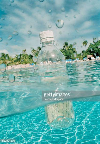 Message in a Bottle in Swimming Pool