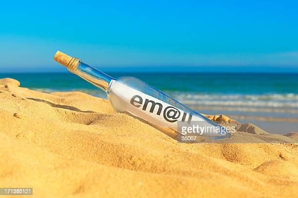 message in a bottle - send stock pictures, royalty-free photos & images
