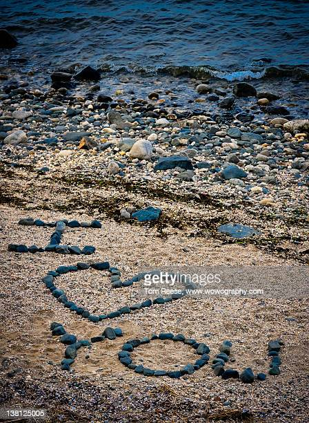 Message in sand on beach