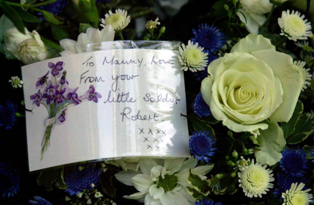 swansea beverley payne funeral pictures getty images