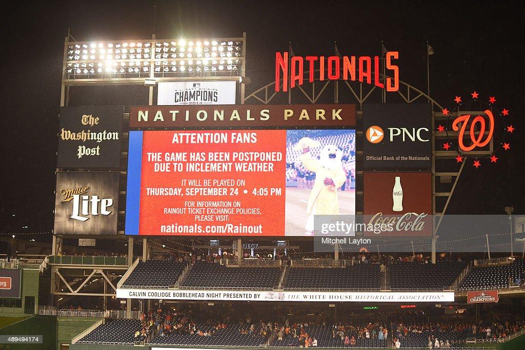 Baltimore Orioles at Washington Nationals : News Photo