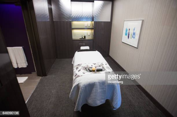 A message table sits on display at the Spa by Ivanka Trump during the grand opening of Trump International Hotel Tower in Vancouver British Columbia...