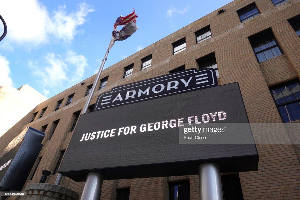 Minneapolis Prepares For Derek Chauvin Trial With Rallies And Prayer Vigil : News Photo