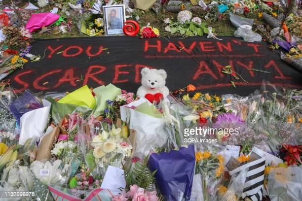 """Message to the attackers reads """"you haven't scared anyone' to pay respect to the 50 victims of the mosques terror attacks. Around 50 people has been..."""