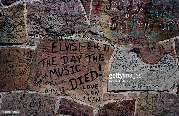 Messages from Elvis fans on wall at Graceland.