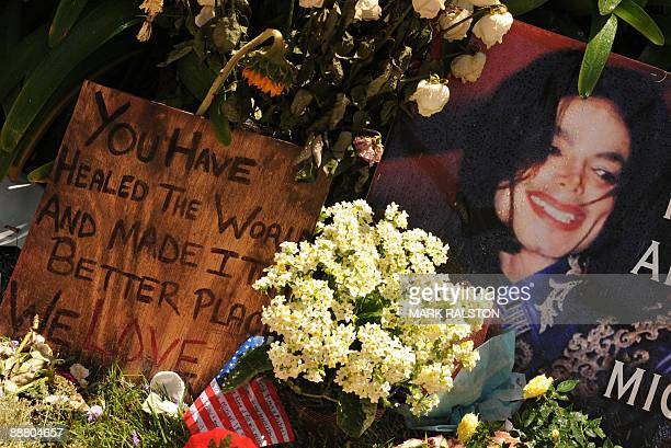 Messages left by fans outside the gates of the rented Holmby Hills home of music legend Michael Jackson after his recent death in Los Angeles on July...