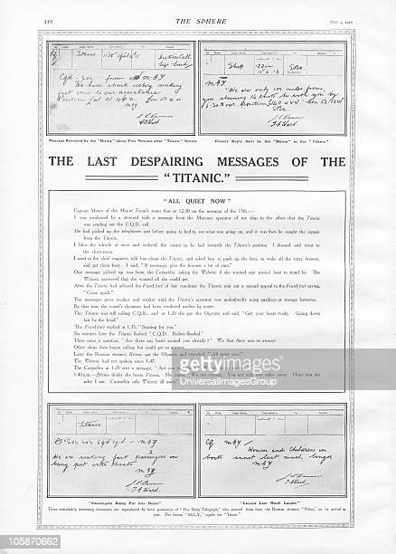 Messages received and sent from the Russian steamer Birma in reponse to Titanic's SOS and CQD emergnecy morse code signals Titanic was built by...