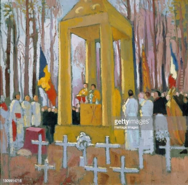Messe devant la tombe d'Ernest Psichari, 1924. Found in the collection of Musée de la Vie romantique, Paris. Artist Denis, Maurice . .