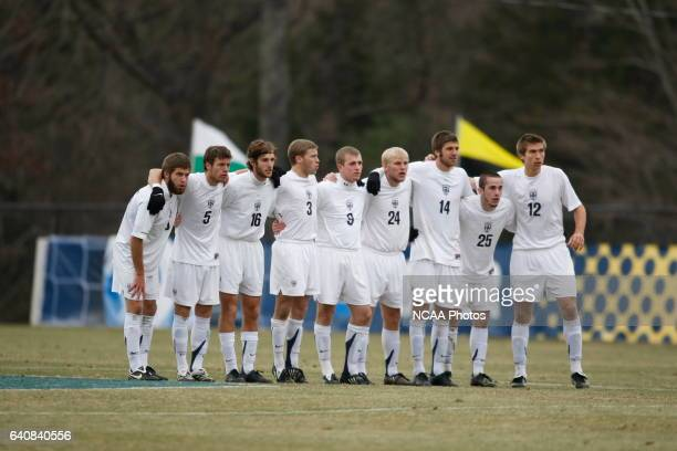 Messiah College takes on Stevens Institute of Technology during the Division III Men's Soccer Championship held at Macpherson Stadium at Bryan Park...