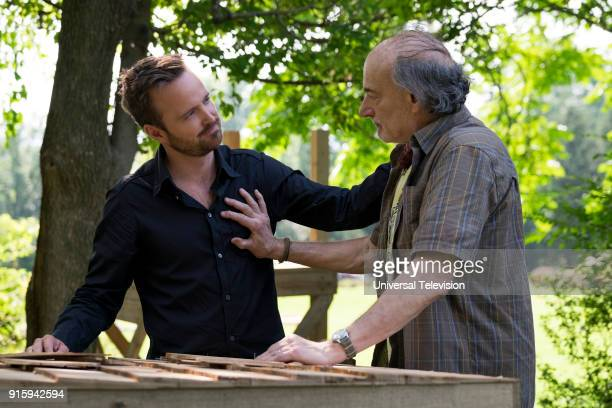 THE PATH Messiah Episode 306 Pictured Aaron Paul as Eddie Lane Peter Friedman as Hank Armstrong