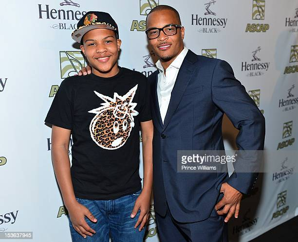 Messiah Harris and T.I. Attend the ASCAP R&B Soul ATL Legends Mixer at the W Atlanta - Midtown on September 26, 2012 in Atlanta, Georgia.