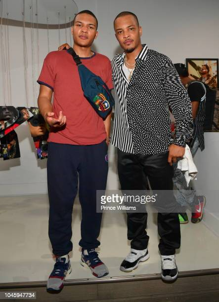 "Messiah Harris and T.I. Attend the ""Dime Trap"" Album release Event at The Trap Museum on October 4, 2018 in Atlanta, Georgia."