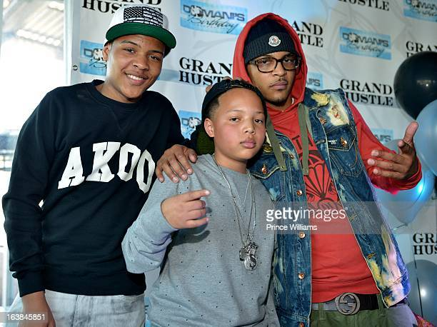 Messiah Harris, Domani Harris and T.I. Attend Domani Harris's birthday celebration at Indigo on March 16, 2013 in Toronto, Canada.