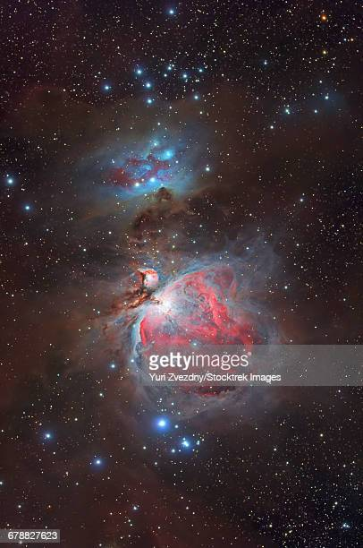 Messier 42, The Great Nebula in Orion and NGC 1977, The Running Man Nebula.