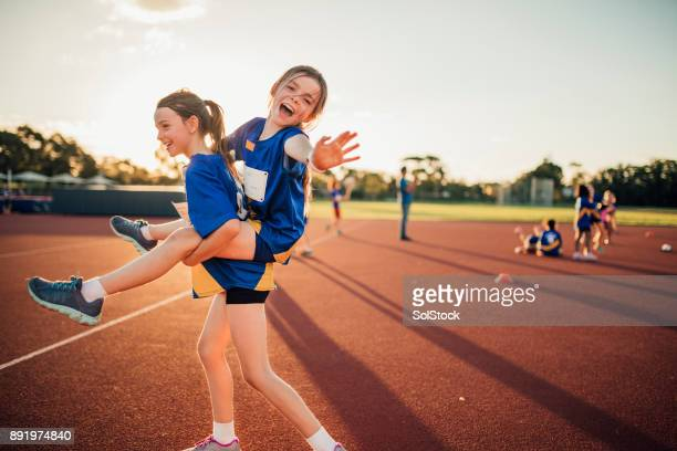 messing around at athletics club - athletics stock photos and pictures