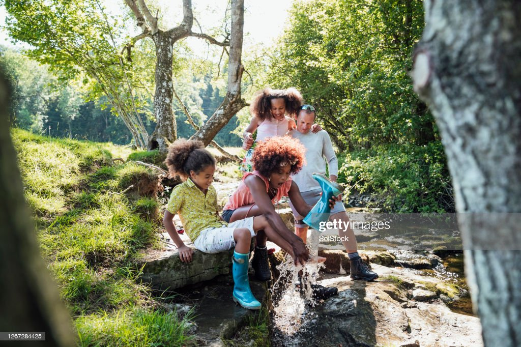 Messing Around At The River : Stock Photo