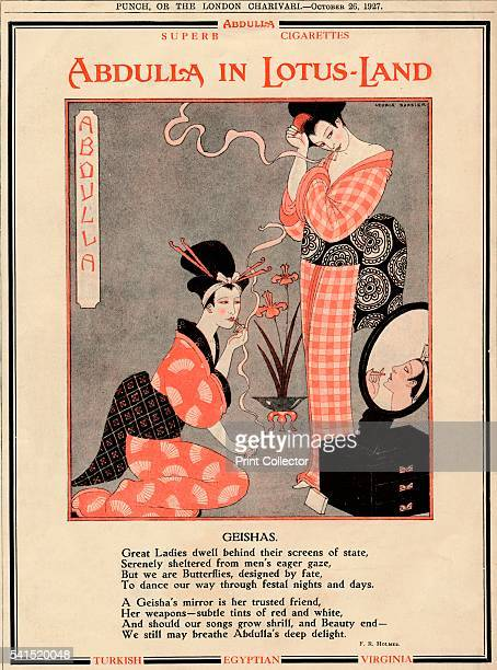 Abdulla in LotusLand Geishas' 1927 From Punch or the London Charivari October 26 1927 [Messrs Bradbury Agnew Co Limited London 1927] Artist Unknown