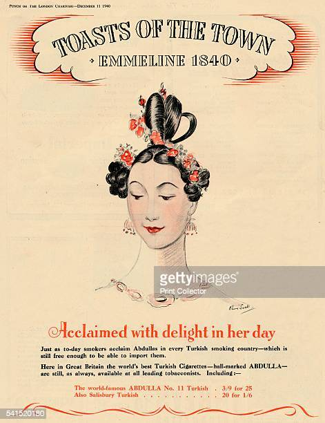 Acclaimed with delight in her day Toasts of the Town Emmeline 1840' 1940 From Punch or the London Charivari December 11 1940 [Messrs Bradbury Agnew...