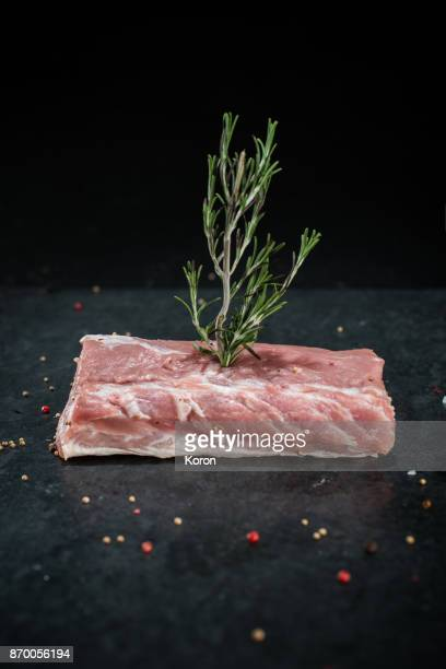 Messthetics - Raw Piece of Meat with Rosemary on Top