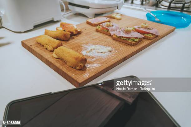 Messthetics: spanish food preparation (Tapas style) and mess with a digital tablet