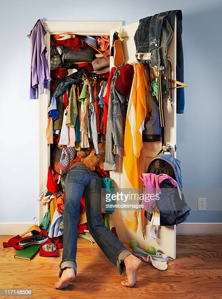 messy closet - messy stock pictures, royalty-free photos & images