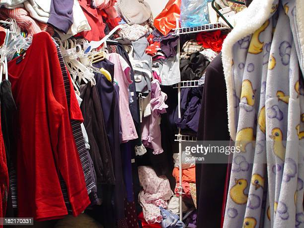messy closet - messy stock photos and pictures