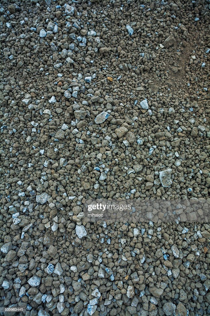 messy construction gravel texture : Stock Photo