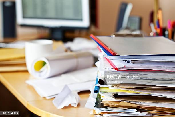 Unordentlich Schreibtisch