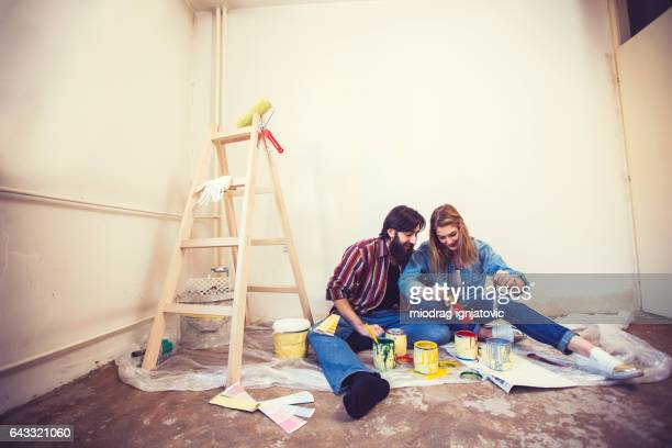 Messy home redecoration