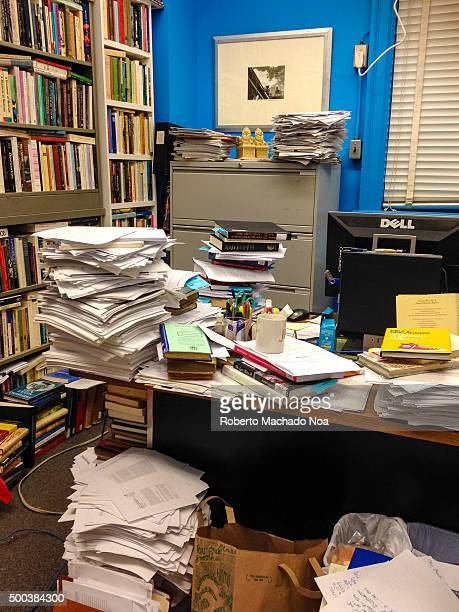 Messy lawyer office or work place Untidey real life scene of the working style or conditions of some lawyers