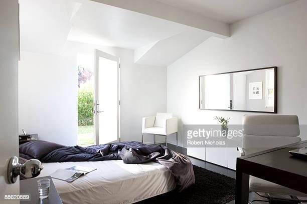 Messy modern bedroom