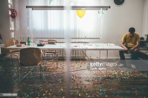 messy office - cleaning after party stock pictures, royalty-free photos & images