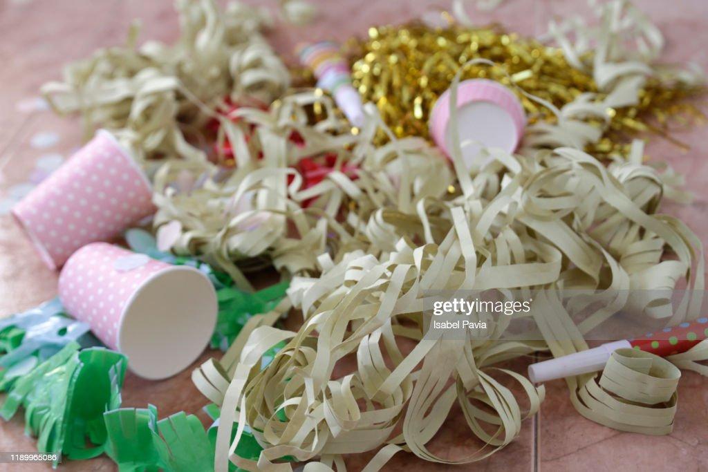 Messy Party Floor : Stock Photo