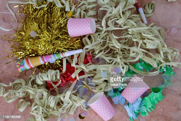 messy party floor - cleaning after party stock pictures, royalty-free photos & images