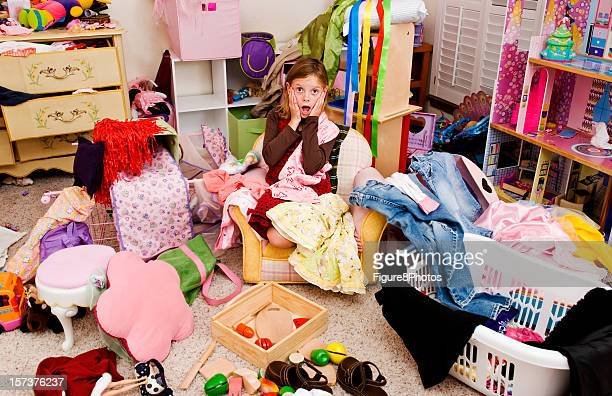Chambre en désordre