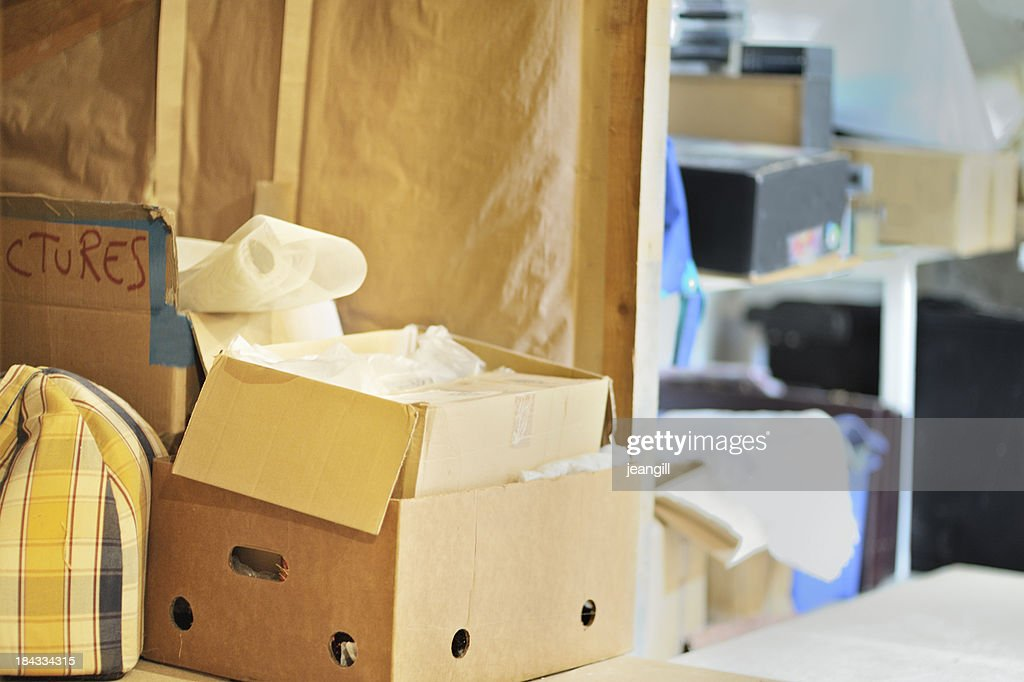 Messy storage area : Stock Photo