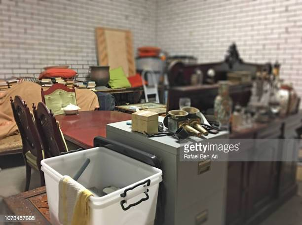 messy storage room - rafael ben ari stock pictures, royalty-free photos & images