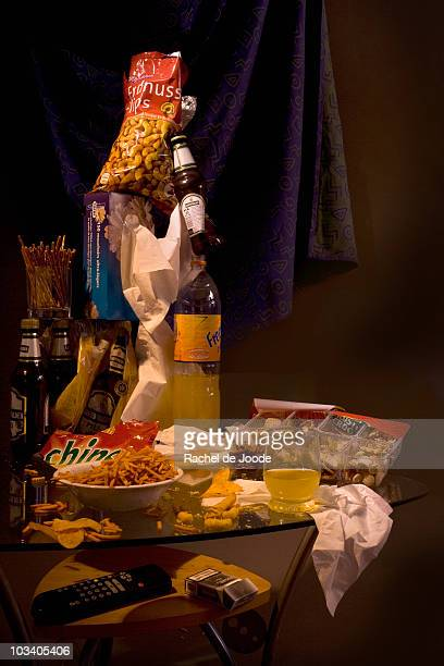 messy table after a party - table after party stock pictures, royalty-free photos & images