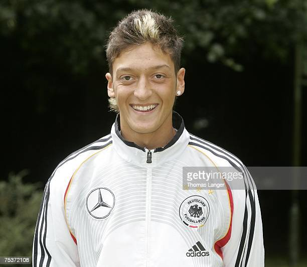 Mesut Oeziel poses during the U19 German National Team presentation on July 12 2007 in Bad Reichenhall Germany