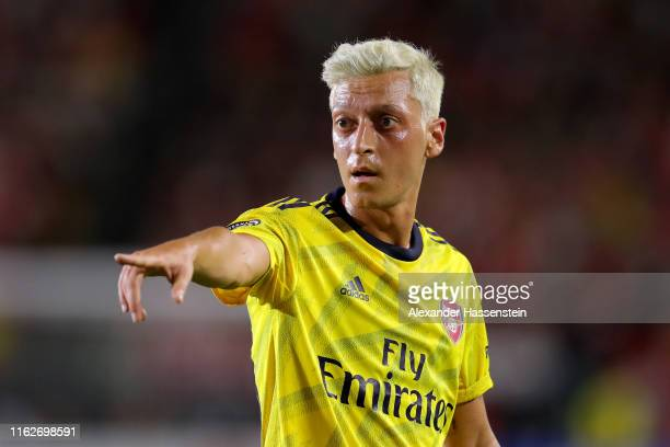 Mesut Oezil of Arsenal London reacts during the 2019 International Champions Cup match between Arsenal London and FC Bayern Muenchen at Dignity...