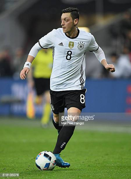 Mesut Oezil of Germany controls the ball during the International Friendly match between Germany and Italy at Allianz Arena on March 29 2016 in...