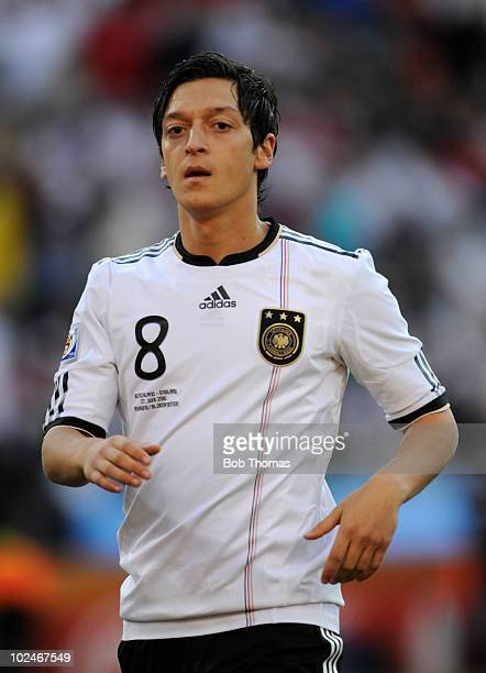 Mesut Oezil of Germany during the 2010 FIFA World Cup South Africa Round of Sixteen match between Germany and England at Free State Stadium on June...