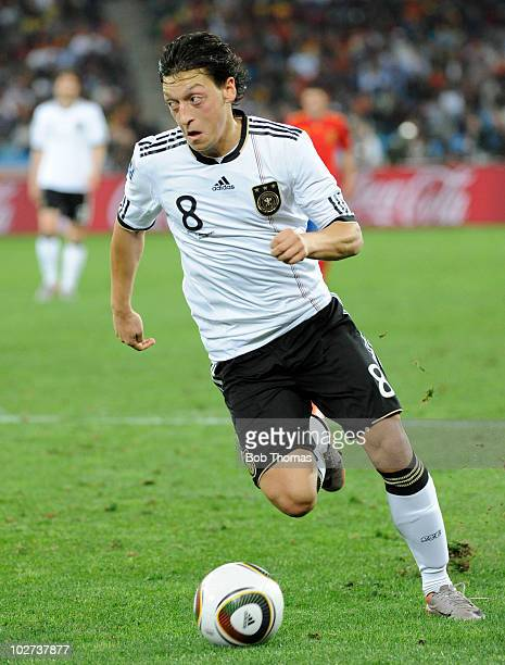 Mesut Oezil of Germany during the 2010 FIFA World Cup South Africa Semi Final match between Germany and Spain at Durban Stadium on July 7 2010 in...
