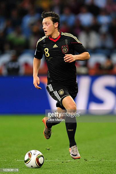 Mesut Oezil of Germany in action during the 2010 FIFA World Cup South Africa Quarter Final match between Argentina and Germany at Green Point Stadium...