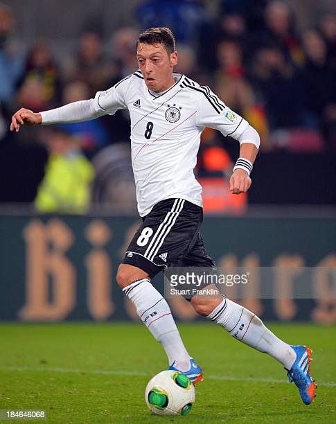 Mesut Oezil of Germany in action during the FIFA world Cup 2014 qualification match between Germany and Republic of Ireland at the Rheinenergy...